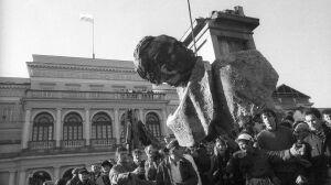Happening na placu Feliksa Dzierżyńskiego