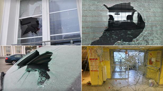 Napastnicy zniszczyli budynek i samochody Lech Marcinczak/ tvnwarszawa.pl