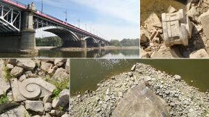 Wisła odsłoniła relikty starego mostu Poniatowskiego