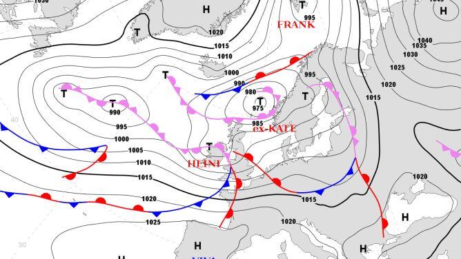 Ex-Kate przyniesie huraganowy wiatr, a potem zimę