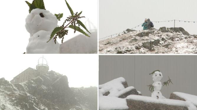 """""""Super tutaj jest"""". W Tatrach spadł śnieg, pomimo że w kalendarzu nadal lato"""
