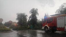 Skutki gwałtownej pogody w Oławie (Oława24)